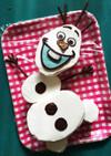 クリスマス☆オラフのケーキ(♡´艸`)
