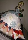 簡単ドームケーキ♪エルサのドールケーキ