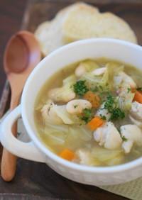 白いんげん豆とチキンの田舎風スープ