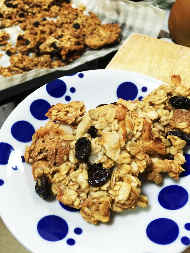 グラノーラ風オートミールココナツクッキー