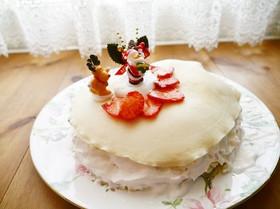 卵乳なしケーキ☆簡単もちもちミルクレープ