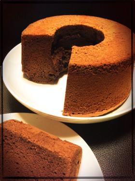 濃厚♡チョコレートシフォンケーキ