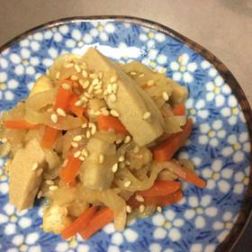 簡単!切干大根と高野豆腐の煮物