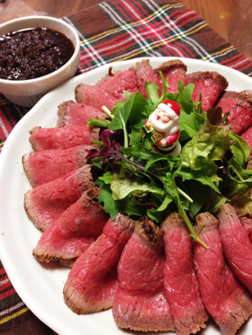 クリスマスに♡牛たたき風ローストビーフ