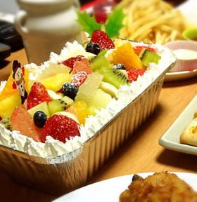 超簡単カットフルーツでスコップケーキ♡