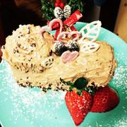簡単♡アイスケーキ風ブッシュドノエル♡の写真