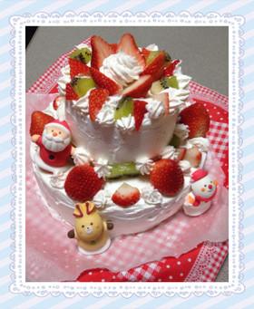 家用簡単2段クリスマスケーキ