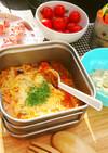 トマト&オニオンスープのスープパスタ