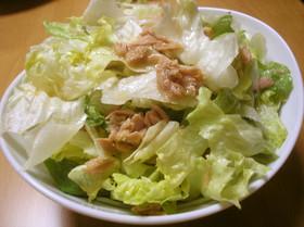 簡単♪レタスとツナのサラダ