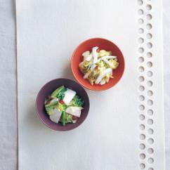 かぶとキャベツの梅肉サラダ風(写真下)