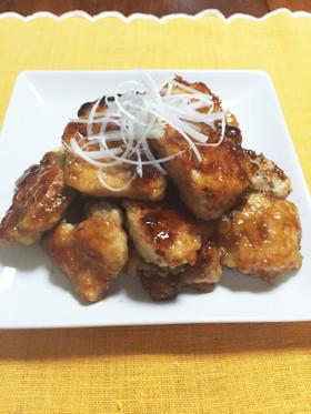 簡単!鶏胸肉の甘酢煮。お酢でやわらかい!