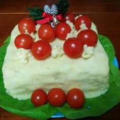 マッシュで甘くないクリスマスケーキ♪