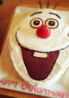 クリスマス☆オラフのケーキ