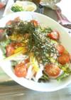 梅と長芋のシャキシャキサラダ~ごま油風味