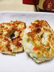 離乳食後期〜野菜たっぷり豆腐ハンバーグ♡の写真