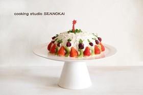 簡単ヨーグルトクリスマスケーキ☆