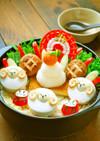 正月デコ鍋☆ひつじと鏡餅の簡単お鍋