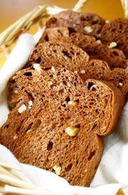 ふすま食パンミックスdeココアくるみパンの写真