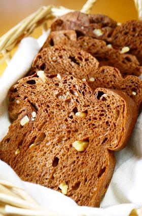 ふすま食パンミックスdeココアくるみパン
