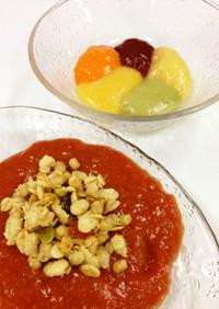 トマトジュースでつくる低カロリーゼリー