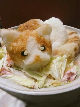 大根おろしアート★猫鍋