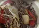 野菜たっぷり  牛肉小間切れすき焼き♪