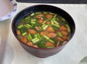 簡単◎豆腐となめこのお味噌汁