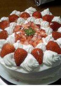 ふわふわw簡単いちごケーキ