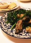 牡蠣とほうれん草のバター炒め
