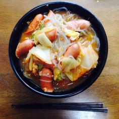簡単★白滝と春雨でダイエットキムチ麺♡