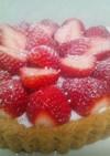 苺ヨーグルトムースのタルト