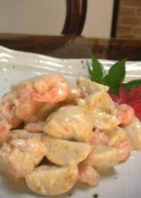 里芋とエビの味噌マヨ
