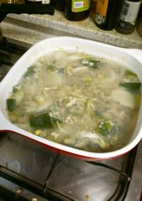 韓国料理 クルトックク(牡蠣と餅スープ)