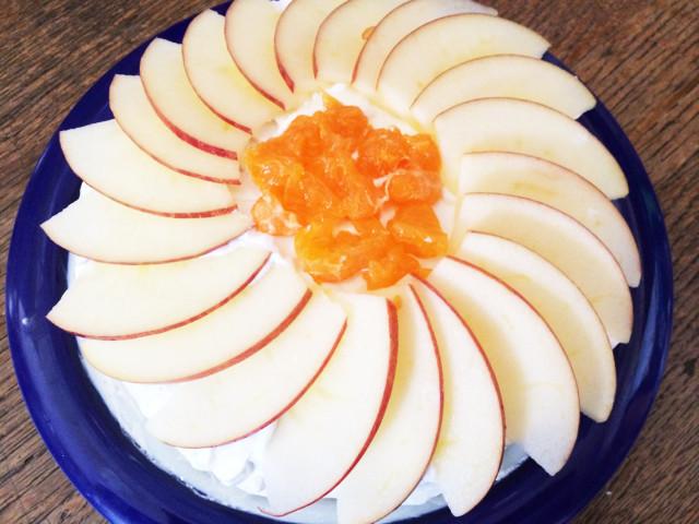 りんごとみかんのショートケーキ