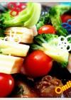 オードブルやお弁当*彩り野菜チーズピック