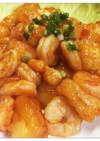 餅・アレンジ☆海老と揚げ餅のチリソース