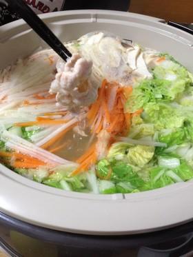 野菜たくさん食べれちゃうしゃぶしゃぶ鍋