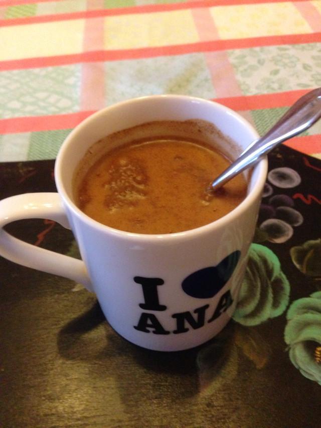 ホットミルクシナモンコーヒー