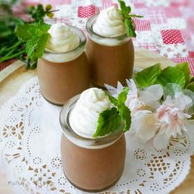 バレンタインに♥材料3つ濃厚チョコプリン