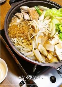 福岡✿鶏すき(鶏肉のすき焼き)