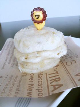 離乳食後期~レンジで手づかみ蒸しパン