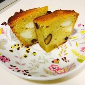 栗きんとん・黒豆リメイクケーキ