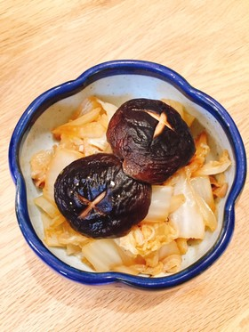 簡単副菜!椎茸と白菜の蒸しポン