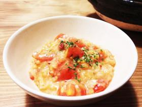 ダイエットと美容に♡トマトと卵の玄米お粥