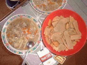 モンゴル式米スープ(雑炊?)