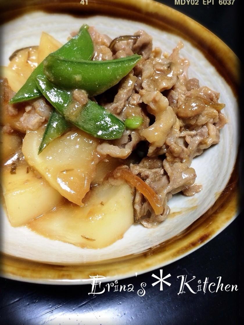 豚肉とカブの味噌炒め