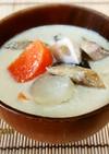 無塩料理☆根菜ときのこの生姜豆乳スープ