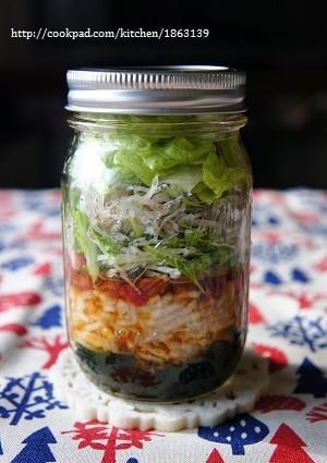メイソンジャーで♪冬野菜のジャーサラダ