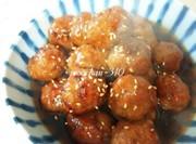 ふわふわ肉団子*甘酢でさっぱりお弁当にもの写真