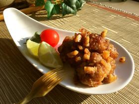 一口鶏もも✿カリコリ胡桃甘辛焼き